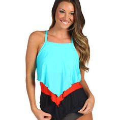 Athena Heavenly High Neck Tankini Top from Zappos.com | Summer