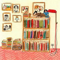 María Luque. La biblioteca de @powerpaola #bibliotecasdibujadas