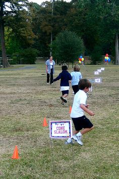 Obstacle Course Party...Great idea for kids joint party