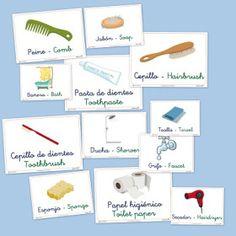imagier vocabulaire, salle de bain