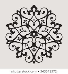 Similar Circular pattern. Round vintage vector ornament in Arabesque style. Images, stock photos and vectors - Stencil Patterns, Stencil Art, Stencils, Motif Arabesque, Arabic Pattern, Wood Burning Patterns, Circular Pattern, Flash Art, Pointillism