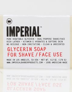 Glycerin Face Shave Soap