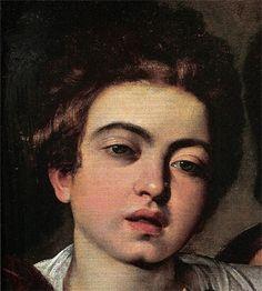 Caravaggio - I musici, dettaglio - - olio su tela - New York, Metropolitan Museum Baroque Painting, Baroque Art, Italian Baroque, Italian Painters, Italian Artist, Portraits, Portrait Art, Rembrandt, Michelangelo Caravaggio