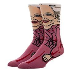 Golden Girls Rose Women's Socks,Compared to all of her other roles, Rose was one of Betty White's most unique roles. She played the gullible, push-over Rose whose sweet demeaner made her everyone's favorite Golden Girl! The Golden Girls, Golden Girls Gifts, Girls Socks, Socks Men, Women's Socks, Betty White, Novelty Socks, Girls Characters, Girls Accessories