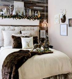 ideas para decorar la habitacin principal en navidad christmas bedroomchristmas