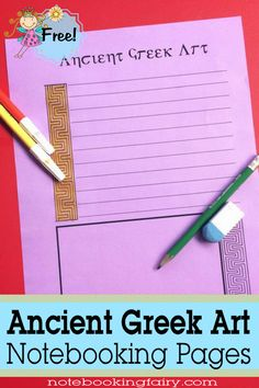 Ancient Greek Art Notebooking Pages – Notebooking Fairy