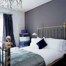 Blue And Gray Bedrooms Dark Accent Wall Spare Bedtoom