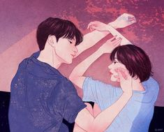 Artist Zipcy captures the intimacy between a couple in her relationship drawings. Each couple illustration shows the personal moments between the pair. Paar Illustration, Illustration Art Nouveau, Couple Illustration, Korean Illustration, Cute Couple Drawings, Cute Couple Art, Couple Ideas, Sweet Couple, Art Hipster