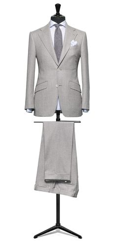 Grey suit Hairline off white S120 http://www.tailormadelondon.com/shop/tailored-suit-fabric-4305-plain-grey/