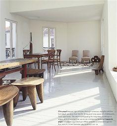 simplicity and poesie    Li Edelkoort's home in paris