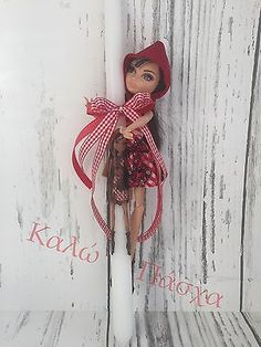 Greek Easter candles (lambada)doll Easter candle for girls Orthodox Easter, Ever After Dolls, Greek Easter, Easter Candle, Red Riding Hood, Custom Design, Candles, Make It Yourself, Handmade