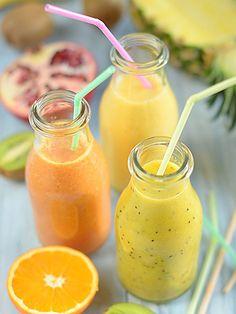 Smoothie w 100% owocowe: Smoothie - czyli owoce w płynie :) Pyszne, zdrowe, kolorowe. Dają mnóstwo...