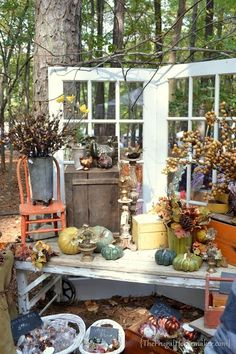 pretty fall display-esp. nice if you were using for craft fair booth