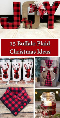 15 Buffalo Plaid Christmas Ideas - The Keeper of the Cheerios hashtags Country Christmas Decorations, Farmhouse Christmas Decor, Christmas Centerpieces, Rustic Christmas, Noel Christmas, Christmas Design, Christmas Projects, Winter Christmas, Homemade Christmas