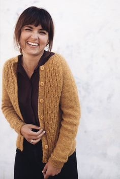 Ravelry: Classic Smocking Cardigan pattern by PetiteKnit Ravelry, Crochet Cardigan Pattern, Knit Crochet, Smocks, Cardigan Design, Knit In The Round, How To Purl Knit, Pulls, Knit Cardigan