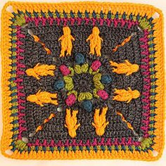 The Kalevala CAL is a blanket project where each participant can crochet their own Kalevala inspired blanket. square patterns, joining and the border, several languages. Crochet Blocks, Crochet Granny, Crochet Motif, Diy Crochet, Crochet Patterns, Joy And Happiness, Pattern Books, Knitting Designs, Handicraft
