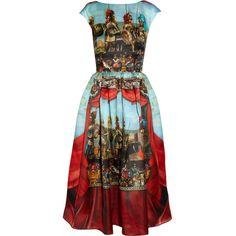 Dolce & Gabbana Printed silk-organza dress ($3,095) via Polyvore