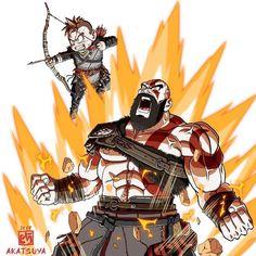 God Of War Dragon Ball dessin Akatsuya Kratos God Of War, God Of War Game, God Is For Me, Lego Movie 2, Cultura Pop, Art Pictures, Memes, Art Reference, Mythology