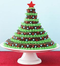 Brownie Christmas Tree! I am so making one of these next Christmas!