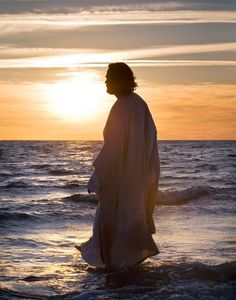 Image result for picture of Jesus christ on water