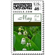 May Birth Flower Postage Stamps with Lily of the Valley Flowers! - #maybirthdaystamps #birthflowerstamps #lilyofthevalleystamp