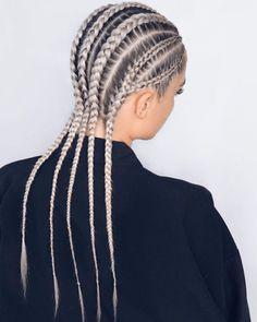 Cornrows Braids White, White Girl Cornrows, Cornrow Hairstyles White, White Girl Braids, Box Braids Hairstyles, Girl Hairstyles, Long Cornrows, Wedding Hairstyles, Side Braids