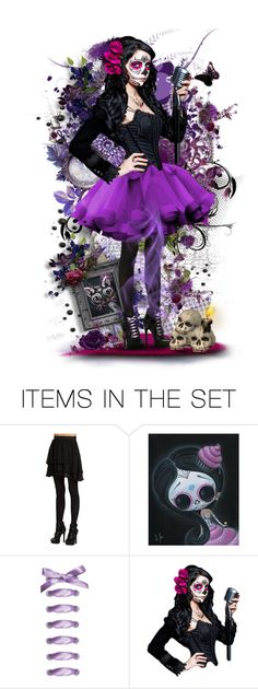 """Day of the Dead"" by reluna ❤ liked on Polyvore featuring art, artset, artexpression and polyvoreset"