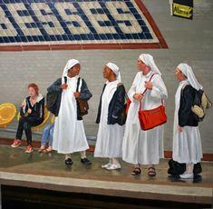 Paris Metro, Running, Artist, Painting, Oil, Fashion, Train, Racing, Moda