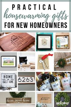 If you are brainstorming for the practical housewarming gifts for new homeowners, check out the list of unique housewarming gift ideas here. Everything from customized cutting boards, return address stamps and welcome wreath! Practical Housewarming Gifts, Housewarming Gift Ideas First Home, Housewarming Gift Baskets, First Home Gifts, Practical Gifts, New Home Gifts, Homemade Housewarming Gifts, Housewarming Invitations, Personalized Housewarming Gifts