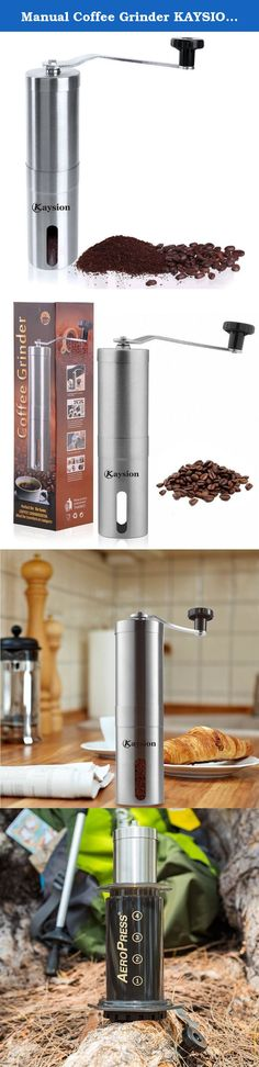 Stainless Coffee Grinder Mill manual ceramic burr hand grinding dry herbs//spices