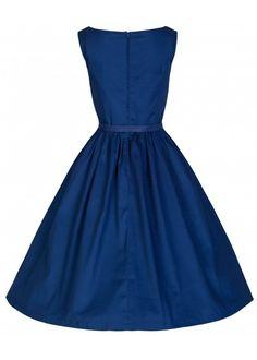 82bfdcfa Lindy Bop Audrey Swing Jurk Donkerblauw Vintage Kjoler, Vintage Prom,  Gallakjoler, Retro Outfits