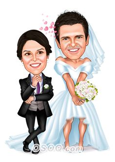 Shop for Caricature artist draw cartoon portrait and Custom Cartoon logo, business card, poster, banner design for your business. Cartoon Logo, Cartoon Design, Family Illustration, Illustration Artists, Wedding People, Wedding Couples, Wedding Caricature, Funny Caricatures, Caricature Artist