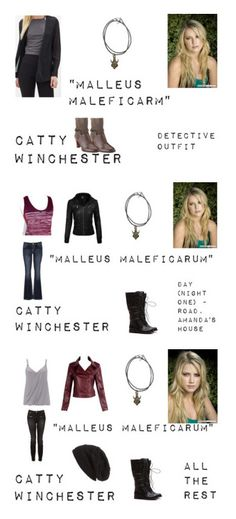 """""""Worlds Colliding (Supernatural) 3.09 """"Malleus Maleficarum"""""""" by mysticfalls1997 ❤ liked on Polyvore featuring moda, Forever 21, Clarks, maurices, Witchery, Wallis e David & Young"""