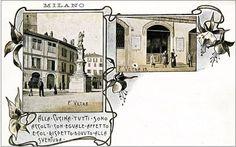 Dispensatorio di cibo per i poveri, Piazza Vetra, Milano, 1900.