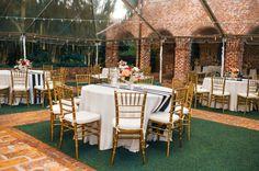Outdoor reception. (Design by Lee Forrest Design, photo by: Shannon Lee Miller)