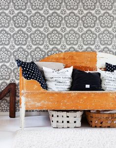 ❤ by Wall Wallpaper, Wallpaper Ideas, Living Spaces, Living Room, Modern Country, Interior Inspiration, Sweet Home, Cottage, Interior Design
