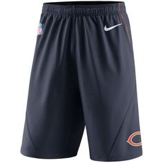 Nike Men's Chicago Bears Fly Xl 5.0 Shorts ($55) ❤ liked on Polyvore featuring men's fashion, men's clothing, men's activewear, men's activewear shorts, navy, mens activewear shorts and mens activewear