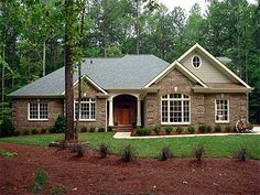 Plan W2067GA: Traditional, Photo Gallery, Ranch, Corner Lot, Southern House Plans & Home Designs