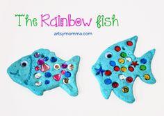 Salt Dough Ornaments Inspired by The Rainbow Fish - Gluten-free Recipe!