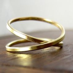 Yellow Gold Infinity Ring,