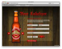 free customizable beer labels!