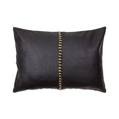 Zara home. Leather chain cushion