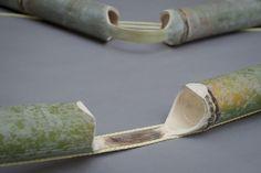 stefan diez reinterprets the traditional bamboo bench for japan creative Bamboo Art, Bamboo Fence, Bamboo Ideas, Diy Fidget Spinner, Bamboo Construction, Bamboo Canes, Bamboo Furniture, Furniture Ads, Furniture Dolly