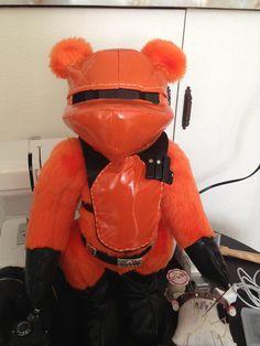 Orange charity gunner bear. Mission Orange.