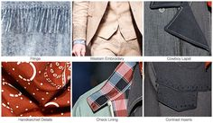 Top men's denim trends, S/S 2015, details spagehetti western