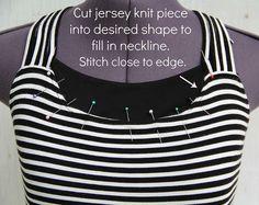 upcycles blouses | how to raise a neckline2 by KristinaJ., via Flickr
