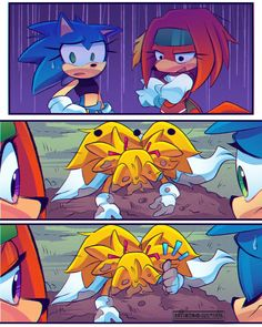 Tails, Sonic and Knuckles part 4 by AresworldS
