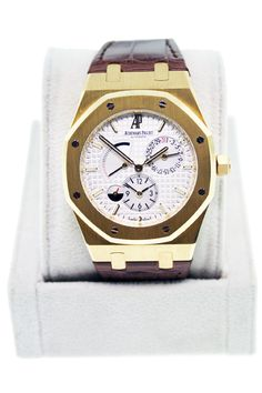 Audemars Piguet Royal Oak Dual Time 18kt Yellow Gold Watch 26120BA Gents Watch  $20,495.00