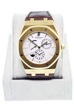 The Audemars Piguet Royal Oak Dual Time 18kt Yellow Gold Watch 26120BA $20495