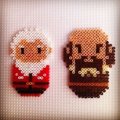 Balin and Dwalin - The Hobbit hama beads by hadavedre: